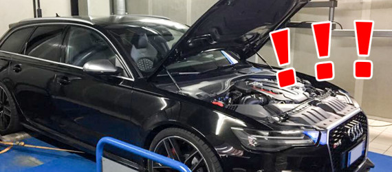 Audi RS6 comes up to the dyno limit with our remapping!